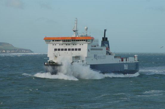 Showing her P&O Stena Line heritage below her Port bridge wing. © Cedric Hacke