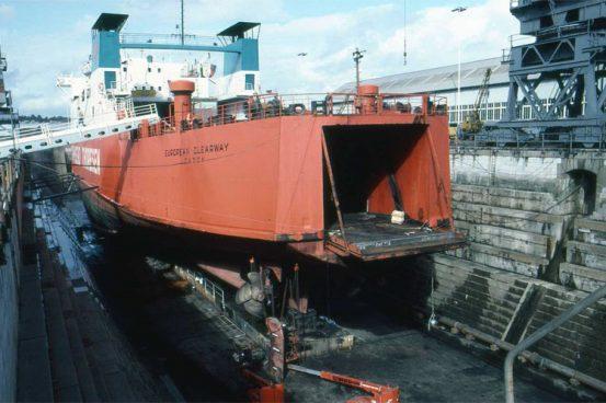 Chatham dockyard, November 1982 © Ken Larwood
