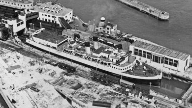 Photo of The Dover Train Ferry Dock 1936-1988