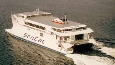Photo of HSC Seacat Scotland (Incat 028) – Past and Present