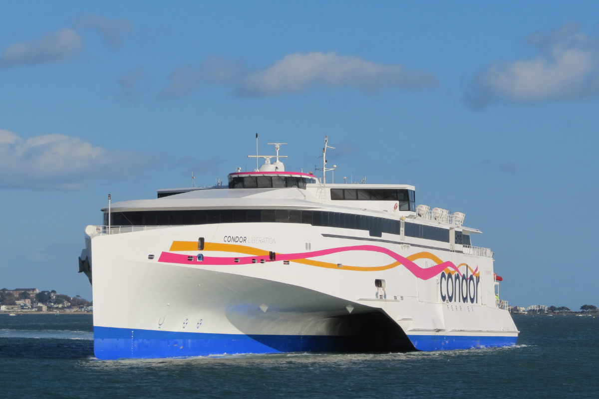 The Condor Liberation returns Poole on the 26/03/15 after final sea trials © Kevin Mitchell