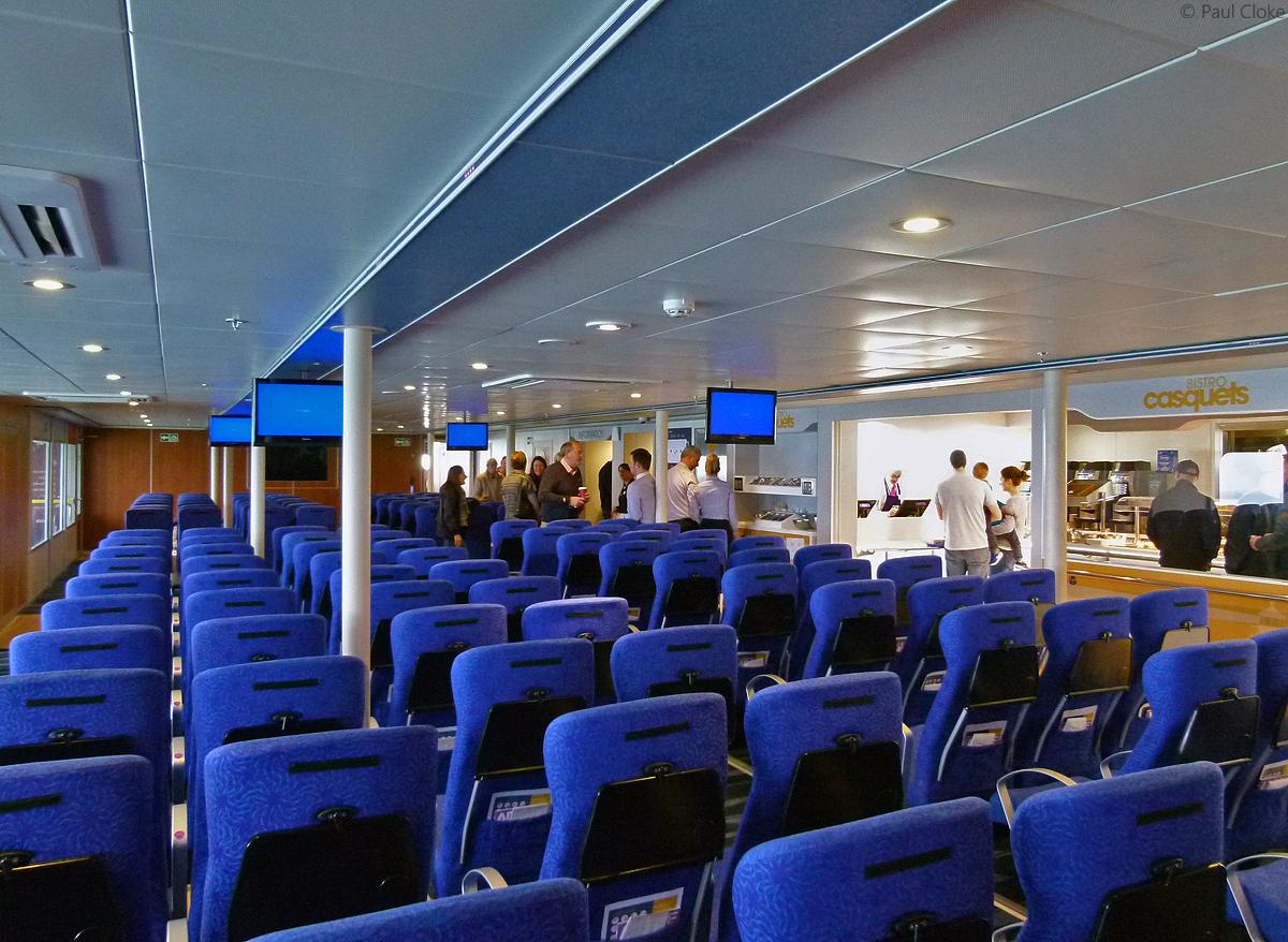 Ocean Traveller Seating - Port side opposite Casquets Bistro