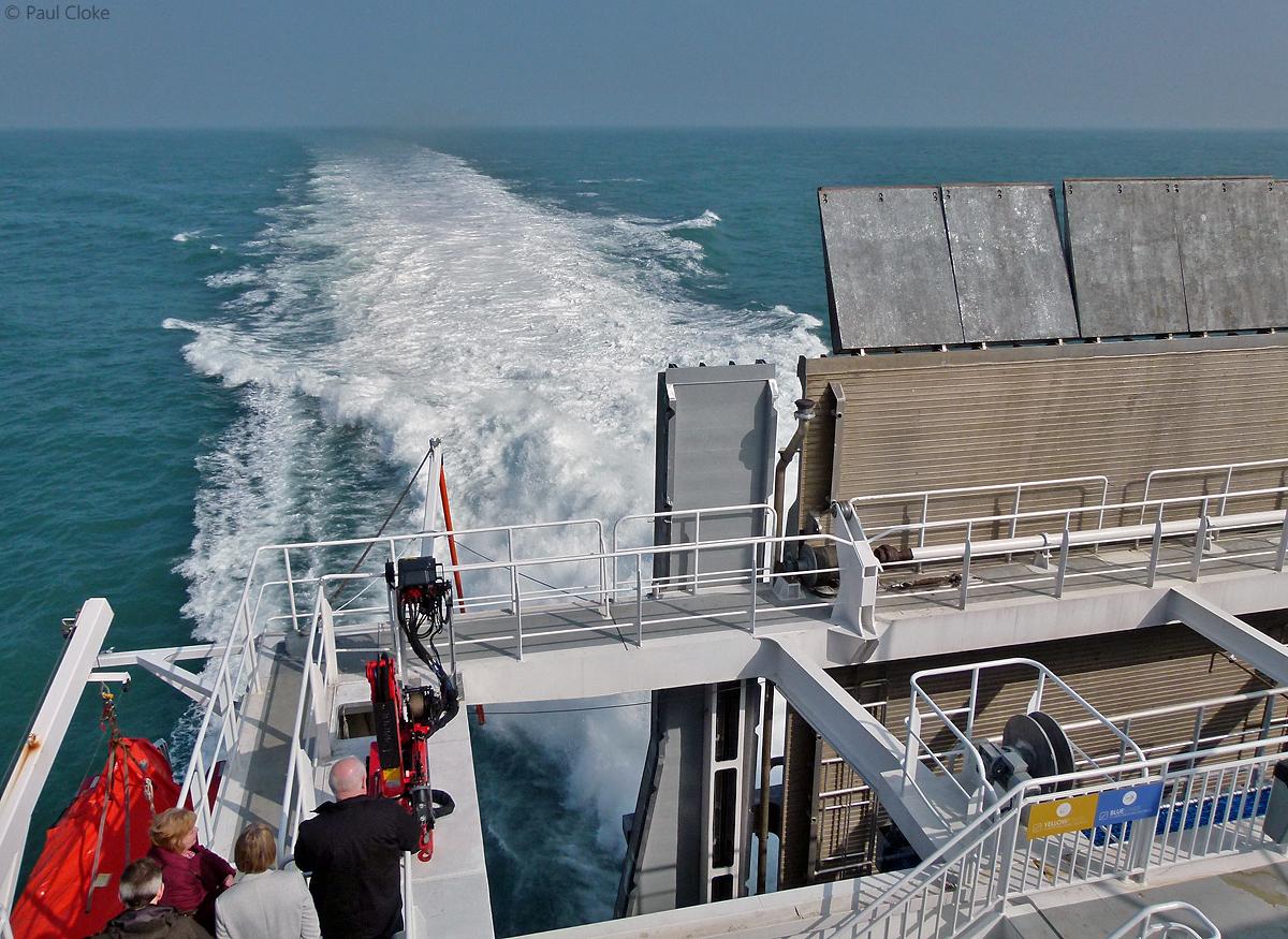 Upper Outside Deck - Starboard side looking astern