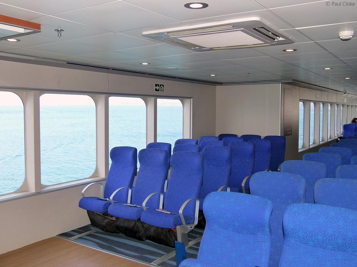Ocean Traveller Seating - Starboard side, amidships