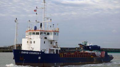 Photo of MV David Church – Past and Present